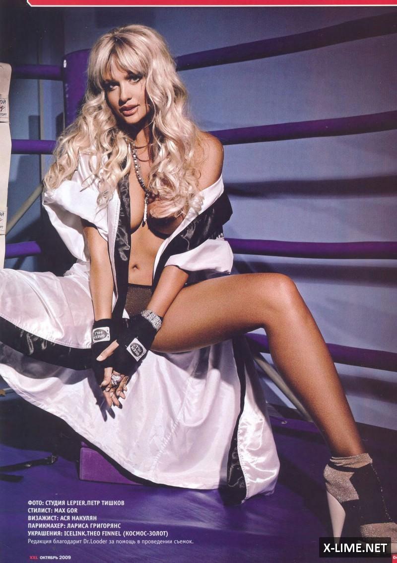 Голая Виктория Лопырева в откровенной фотосессии журнала XXL
