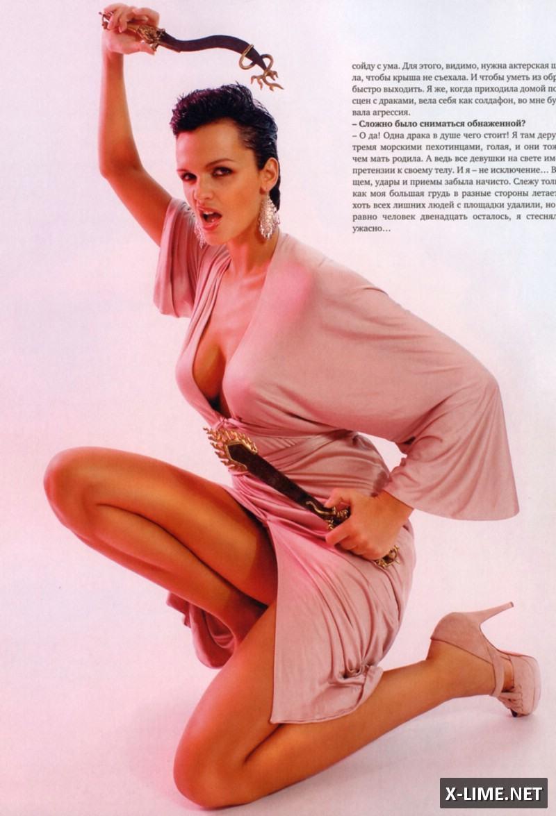 Голая певица Слава в откровенной фотосессии журнала SIM